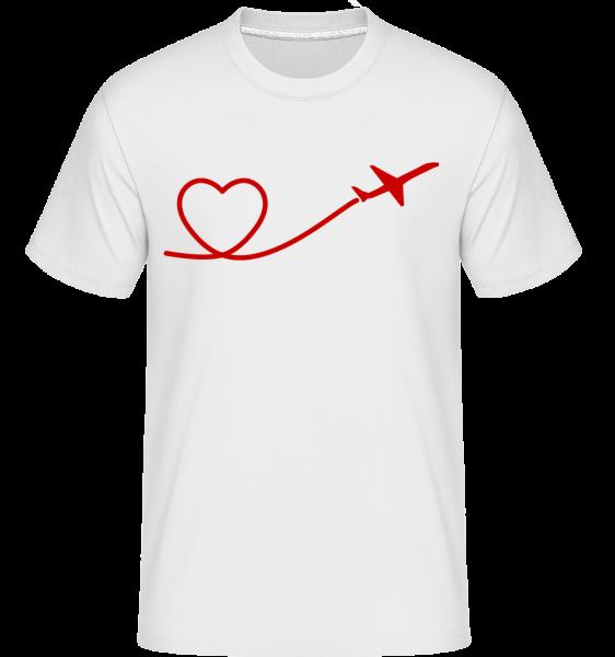 Heart Flyer -  Shirtinator Men's T-Shirt - White - Vorn