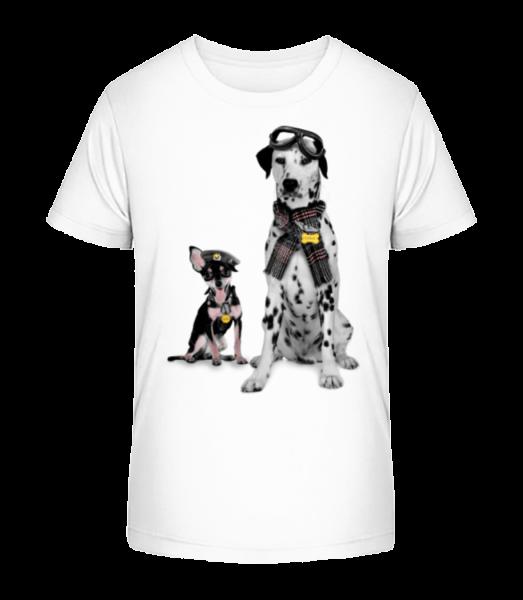 Dogs Military - Kid's Premium Bio T-Shirt - White - Vorn