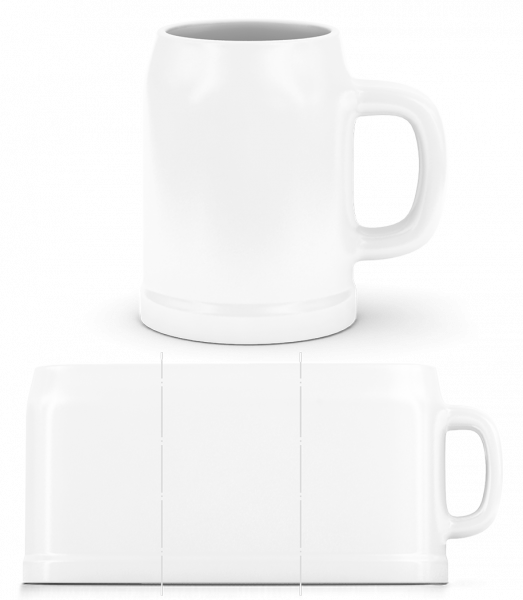 Beer Mug - White - Vorn