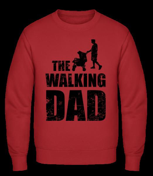 The Walking Dad - Classic Set-In Sweatshirt - Red - Vorn