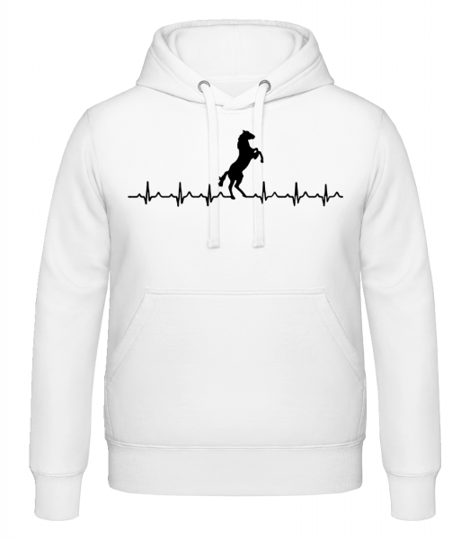 Horse Heartbeat - Hoodie - White - Vorn