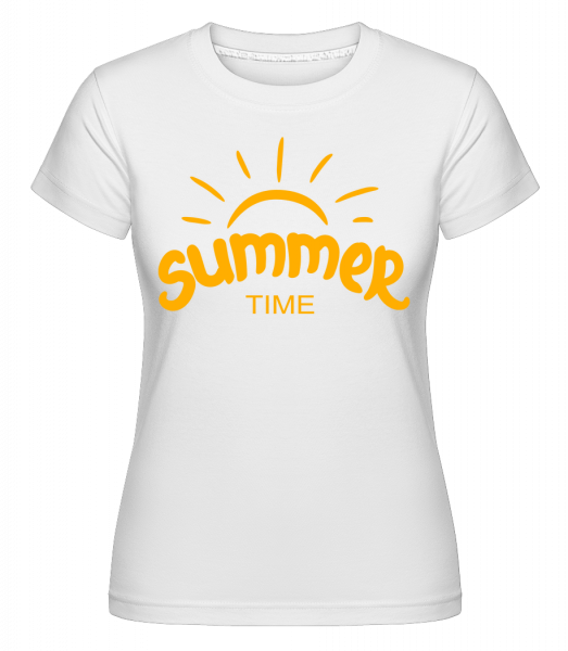 Summer Time Yellow -  Shirtinator Women's T-Shirt - White - Vorn