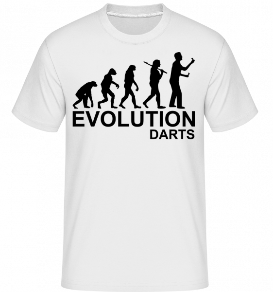 Darts Of Evolution -  Shirtinator Men's T-Shirt - White - Vorn