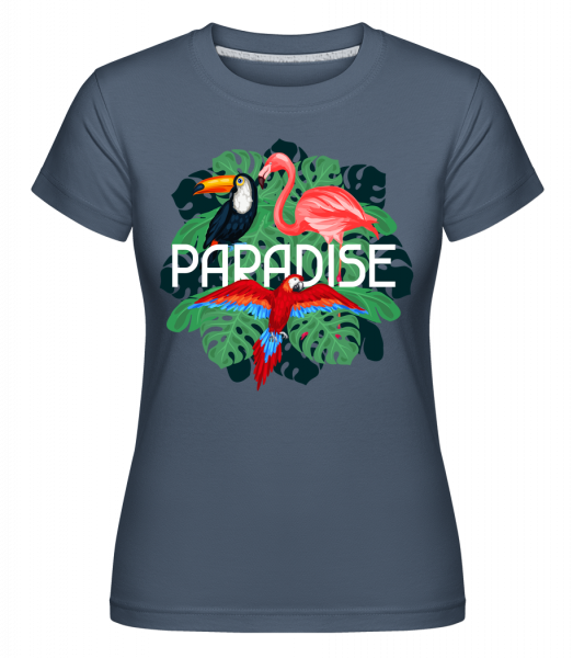 Paradise Icon -  Shirtinator Women's T-Shirt - Denim - Vorn