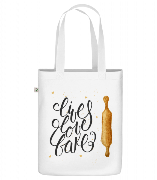 "Live Love Bake - Organic ""Earth Positive"" tote bag - White - Vorn"