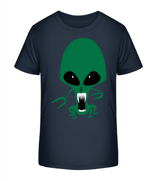 Alien Octopus - Kid's Premium Bio T-Shirt - Navy - Vorn