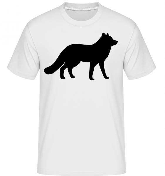 Wolf Shadow -  Shirtinator Men's T-Shirt - White - Vorn