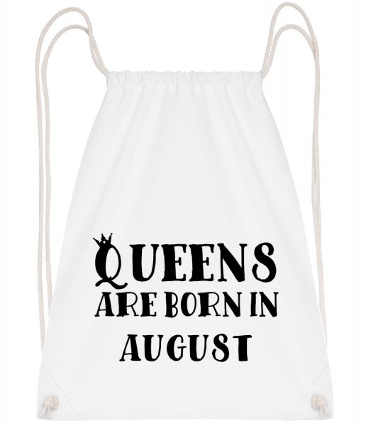 Queens Are Born In August - Drawstring Backpack - White - Vorn