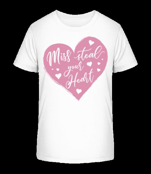 Miss Steal Your Heart - Kid's Premium Bio T-Shirt - White - Vorn