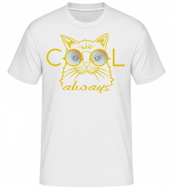 Cool Cat -  Shirtinator Men's T-Shirt - White - Vorn