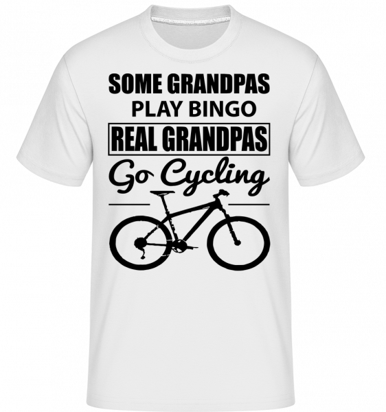 Real Granpas Go Cycling - Shirtinator Men's T-Shirt - White - Vorn