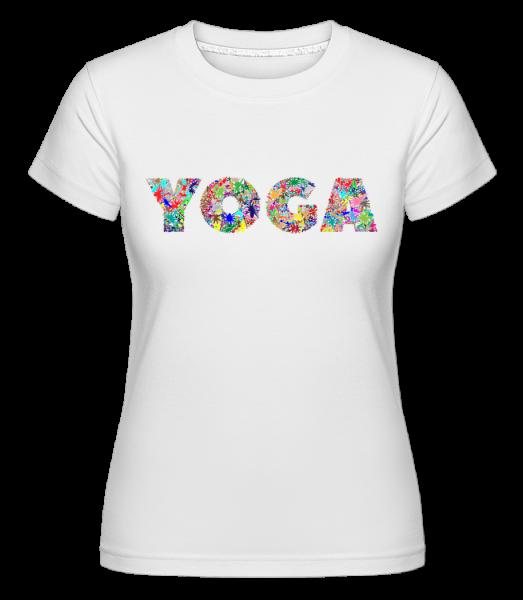 Yoga Flowers -  Shirtinator Women's T-Shirt - White - Vorn