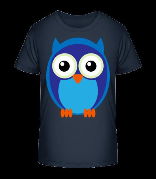 Kids Owl Blue - Kid's Premium Bio T-Shirt - Navy - Vorn