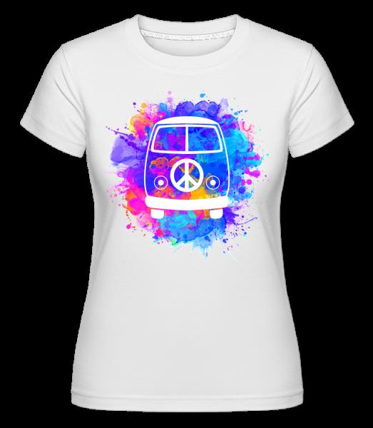 Hippie Bus - Shirtinator Women's T-Shirt - White - Vorn