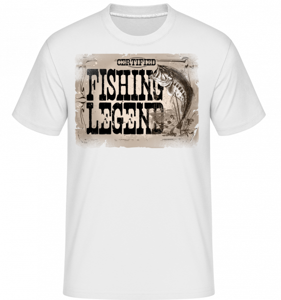 Fishing Legend - Shirtinator Men's T-Shirt - White - Vorn