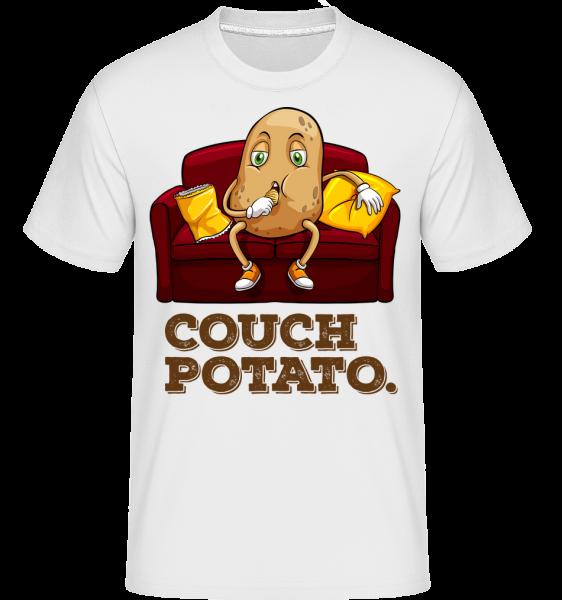 Couch Potato -  Shirtinator Men's T-Shirt - White - Vorn
