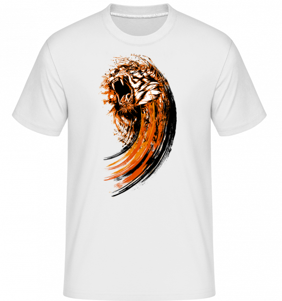 Roaring Tiger - Shirtinator Men's T-Shirt - White - Vorn