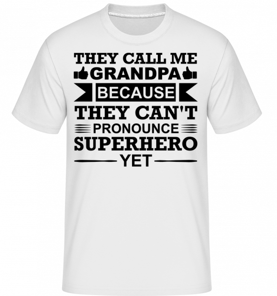 Grandpa Superhero -  Shirtinator Men's T-Shirt - White - Vorn