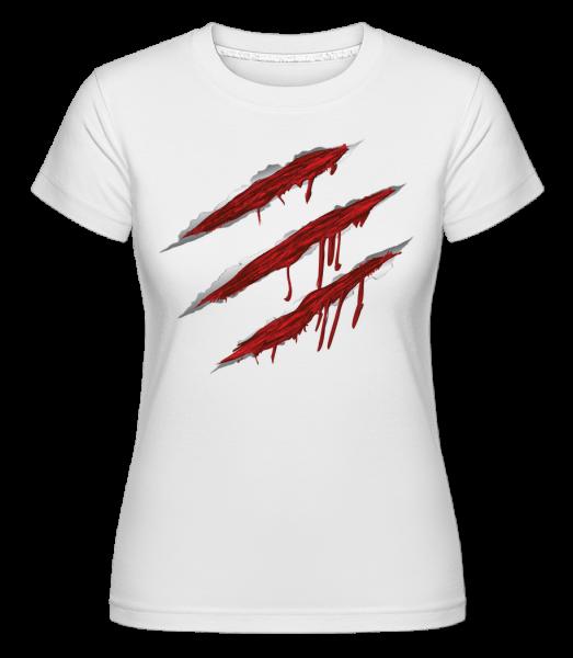 Bloody Scratches -  Shirtinator Women's T-Shirt - White - Vorn