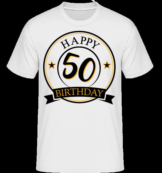 Happy Birthday 50 -  Shirtinator Men's T-Shirt - White - Vorn